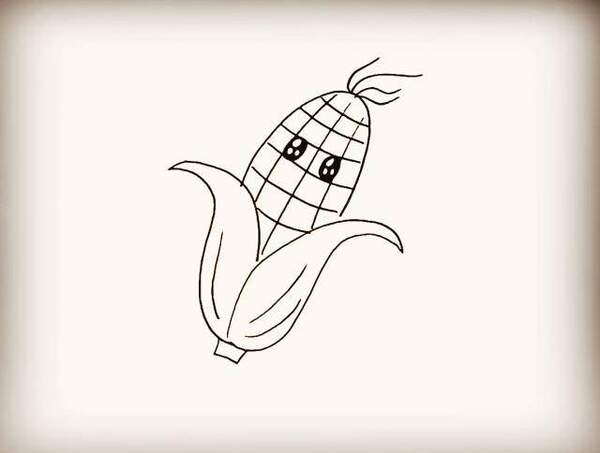 1串玉米简笔画图片_玉米图片卡通简笔画_玉米图片卡通简笔画图片分享
