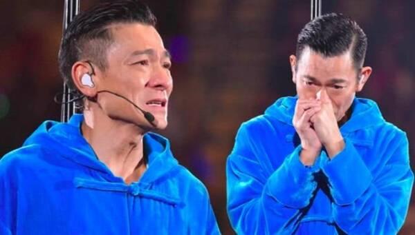 付躹?'_刘德华在台上躹躬向在场观众致歉, 忍痛宣布取消今晚演唱会.