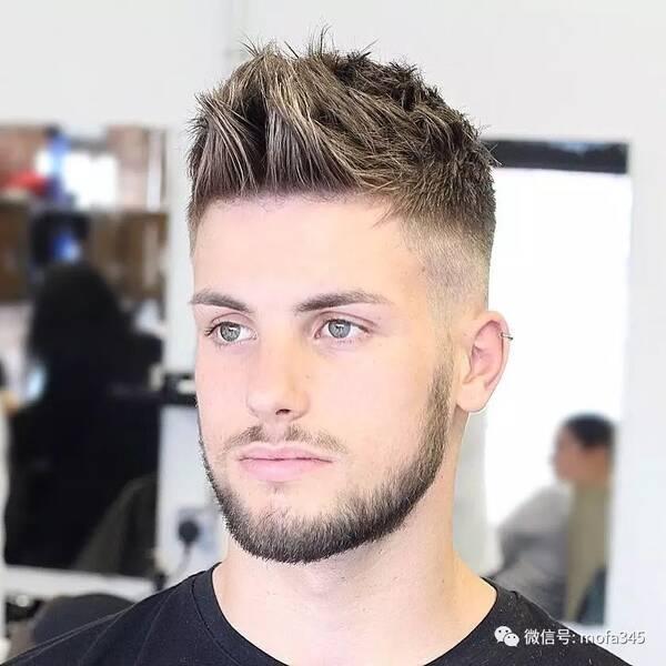 欧美28分油头发型图片_欧美潮男飞机头发型,真的不能再帅了!
