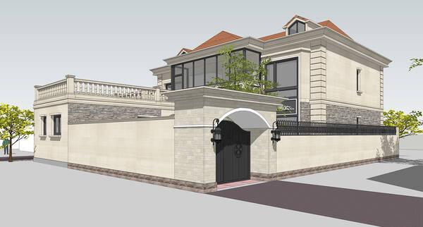 别墅院墙设计效果图