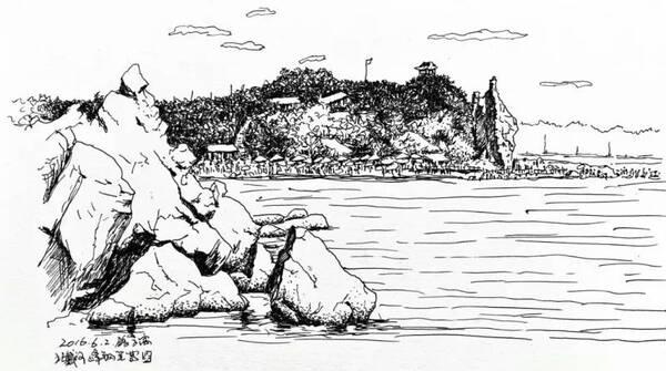 板城小鎮,向日葵花海和盛夏的海邊…… 一個人靜靜地畫速寫幾十年又是