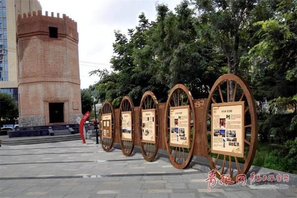 双山水塔外的车轮状文化宣传栏。_副本.jpg
