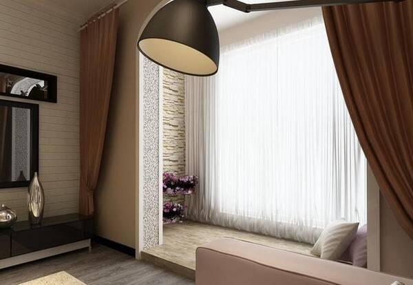 客厅阳台窗帘效果图,这个搭配很不错!