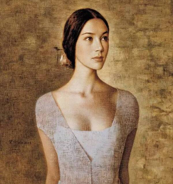 潮汕女人_他画的女人因太魅美丽,在全世界有不下1000万次的被