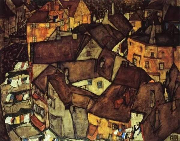 【難得一見】席勒的風景油畫