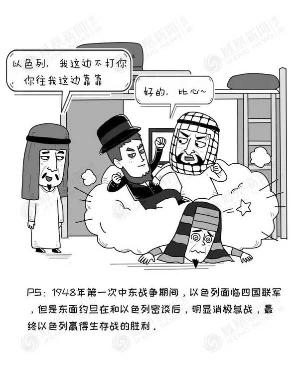 巴以冲突漫画_大鱼漫画:持续70年的\