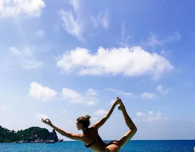 瑜伽美女曬照走紅 運動幫她擺脫抑郁圖片
