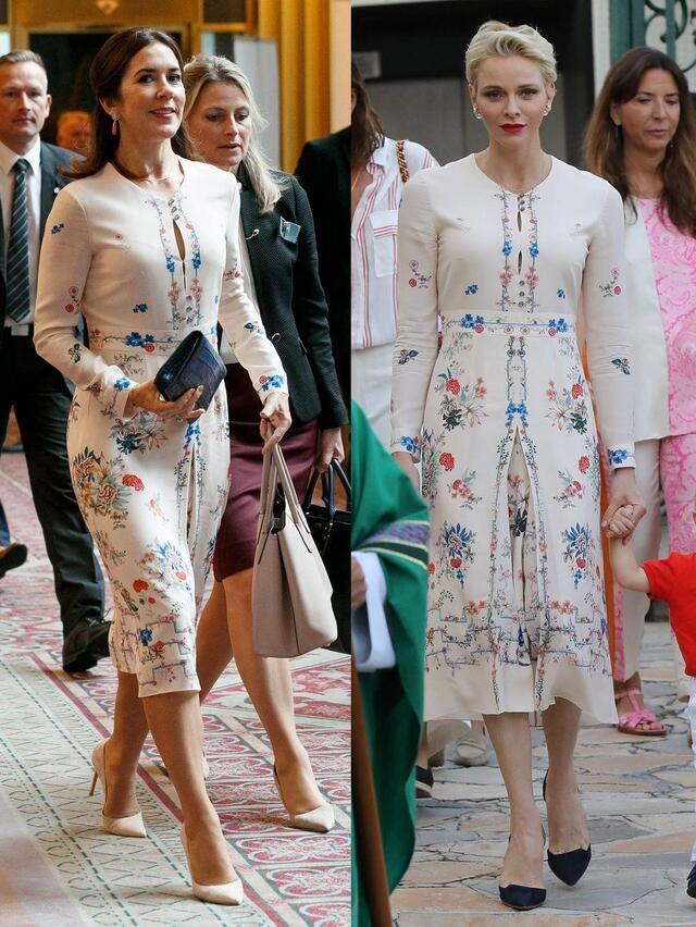 丹麦王储妃玛丽_丹麦王储妃玛丽和摩纳哥夏琳王妃穿过同一款vilshenko长裙,两人的气质