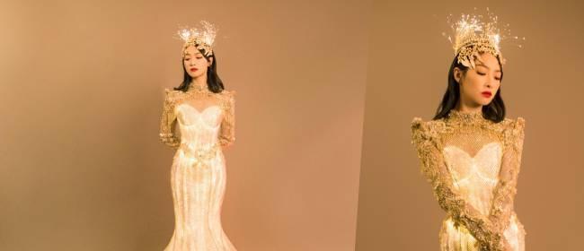 金鹰女神来了!宋茜头戴王冠身披华服,精修与现实差距大