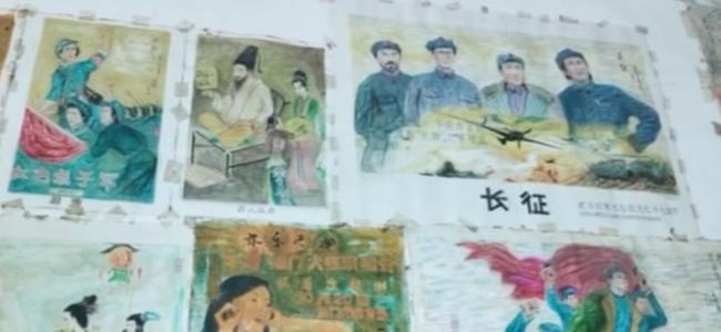 七旬理发师重拾画笔手绘画作 献礼祖国70华诞