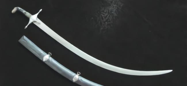 亚洲古兵之波斯之刃 造型独特的舍施尔弯刀