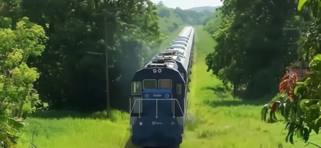 中国造火车古巴通车,大妈高兴坏了