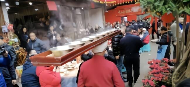 流传千年的千米长宴,送菜盘长2米