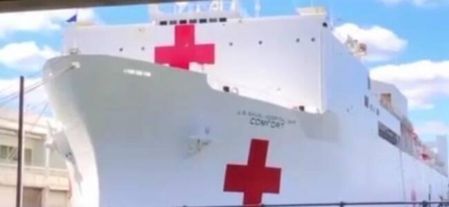 记者实地探访疫情下纽约两大临时医院
