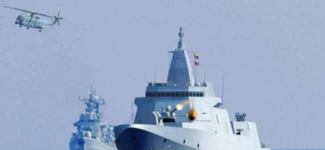 中国首艘055万吨大驱服役 日媒最关注该舰这一行动