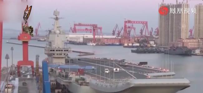 山东舰新年演训曝光 一新型空射导弹上舰