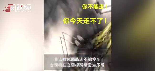 现场:女子违停不听劝告用防狼喷雾猛喷交警 已被北京警方刑拘