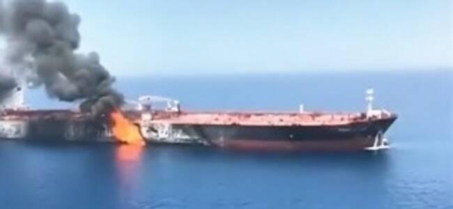 两枚导弹命中伊朗油船 又一场战争要打响了