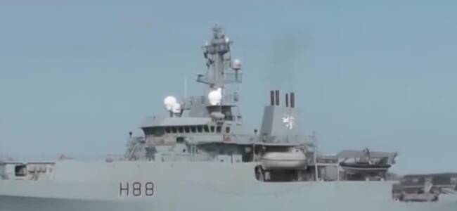英海军测量船驶入台湾海峡 曾擅闯南海遭我军舰机围观