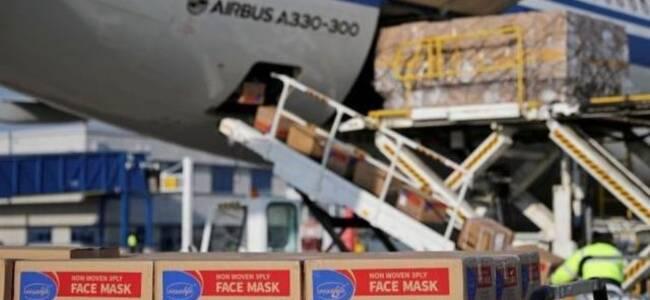 法国运送物资的飞行员在中国确诊 口罩和人都滞留上海