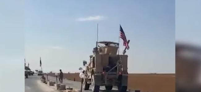 叙利亚军队在战略公路 拦截美军装甲车队