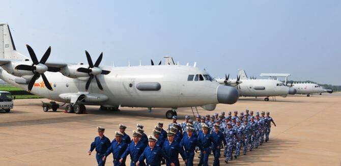 阅�_海军受阅装备训练照曝光:一张图中出现3款高新机
